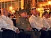 55th Anniversary of the Cuban Revolution Celebration in Santiago de Cuba. Army General Raul Castro (M), first secretary of the Central Committee of Cuban Communist Party (CC PCC), and president of the Councils of State and Ministers, with Jose Ramon Machado Ventura (L), second secretary of  CC PCC, and vice-president of the Councils of State and Ministers, and Miguel Diaz-Canel Bermudez (R), member of the Political Bureau, and first vice-president, during the commemoration ceremony of the 55th anniversary of the triumph of the Cuban Revolution, held at Santiago de Cuba's Cespedes Park, on January 1st, 2014. (Photo: AIN)