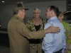 Anti-terrorist Fighter Fernando Gonzalez Back in Cuba. Hero of the Republic of Cuba Fernando González with Army General Raul Castro Ruz. Both Gonzalez\'s mother and wive are also present. (Photo taken from Cubadebate)