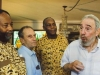 "Fidel Castro with James Early, Saúl Landau and Danny Glover. (photo taken from: ""I used to be a politician"" http://alongthemalecon.blogspot.com/2009/10/fidel-castro-i-used-to-be-politician.html)."