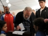 Fidel Castro Calls when casting his vote during February 3rd elections in 2013.
