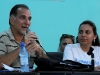 Rene Gonzalez Talks to Cuban University Students. Rene Gonzalez, one of the Cuban Five antiterrorist fighters condemned in US, and Lisara Corona, president of the Federation of University Students (FEU). (Photo: AIN)