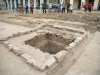 Ruins of Convent and Church Found in Sancti Spiritus. One of the pits found during the archaeological excavations at Serafin Sanchez Park, in Sancti Spiritus. (Photo: AIN/Oscar Alfonso Sosa)