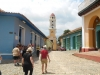 Tourists go sightseeing Trinidad despite the sunny day. (Photo: A. del Valle)
