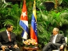 XIII Meeting of Cuba-Venezuela Intergovernmental Commission.  Cuban President Raul Castro Ruz welcomed this Saturday afternoon his Venezuelan counterpart Nicolas Maduro Moros. (Photo: Estudios Revolucion)
