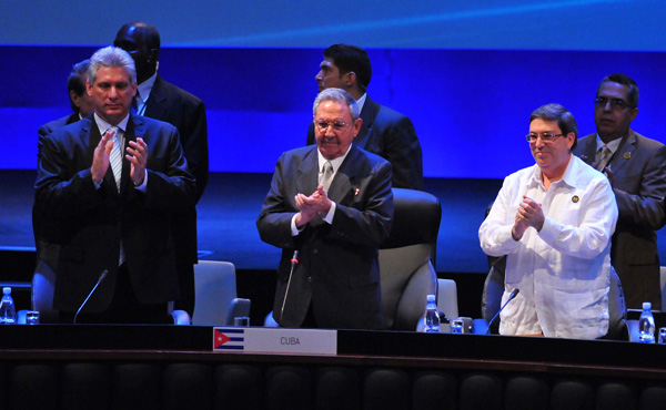 Cuban President Raul Castro presides over second session of CELAC Summit (Photo taken from Granma)