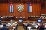 Cuban legislators in Havana