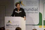 Dilma Rouseff at Multisectorial Global meeting on the Future of the Cyberspace Governance