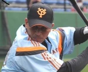 Cuban Frederich Cepeda Trains at Giants Stadium (photo: www.giants.jp)