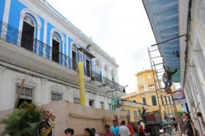 The constructio of  Don Florencio Hostel in Sancti Spiritus boulevard. (foto: Vicente Brito)