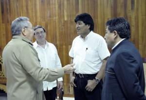 Raul Castro and Evo Morales