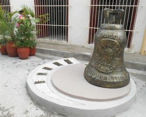 Unique street where bells predominate.