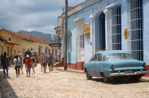 Cuban summer also attracts visitors to the village of Trinidad. (Photo: Oscar Alfonso Sosa)