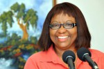 Dr. Carissa F. Etienne, director of the Pan-American Health Organization (PAHO), was the first to arrive in Havana for the ALBA summit. Photo: AIN.