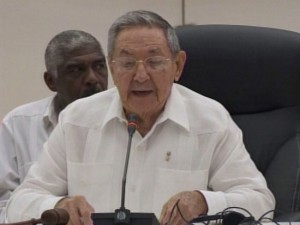 Raul Castro when delivering the opening speech of ALBA-TCP Special Summit on Ebola. (Photo taken from juventudrebelde.cu)