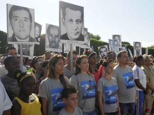 Relatives of the Barbados sabotage victims during the commemoration of the Day of State Terrorism Victims. (Photo: AIN)