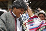 """Evo: """"In Bolivia there is not a waning moon but a full moon""""."""