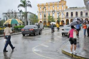 Heavy rains were also reported in the city of Sancti Spiritus. Photo: Vicente Brito