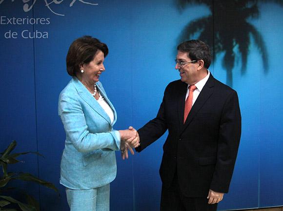 Cuban FM Nancy Pelosi Cuba USA
