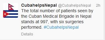 Cuba helps Nepal