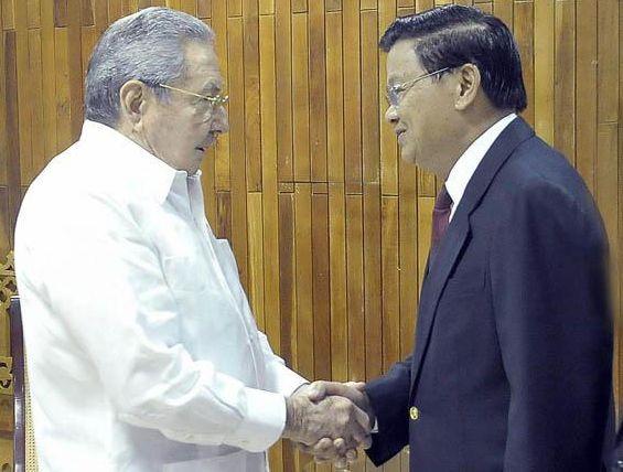 Raul Castro Thoungloun Sisoulith