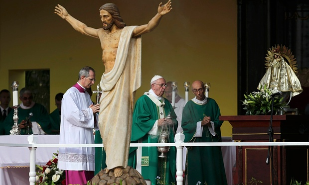 Pope Francis in Cuba. (Photo taken from theguardian.com)