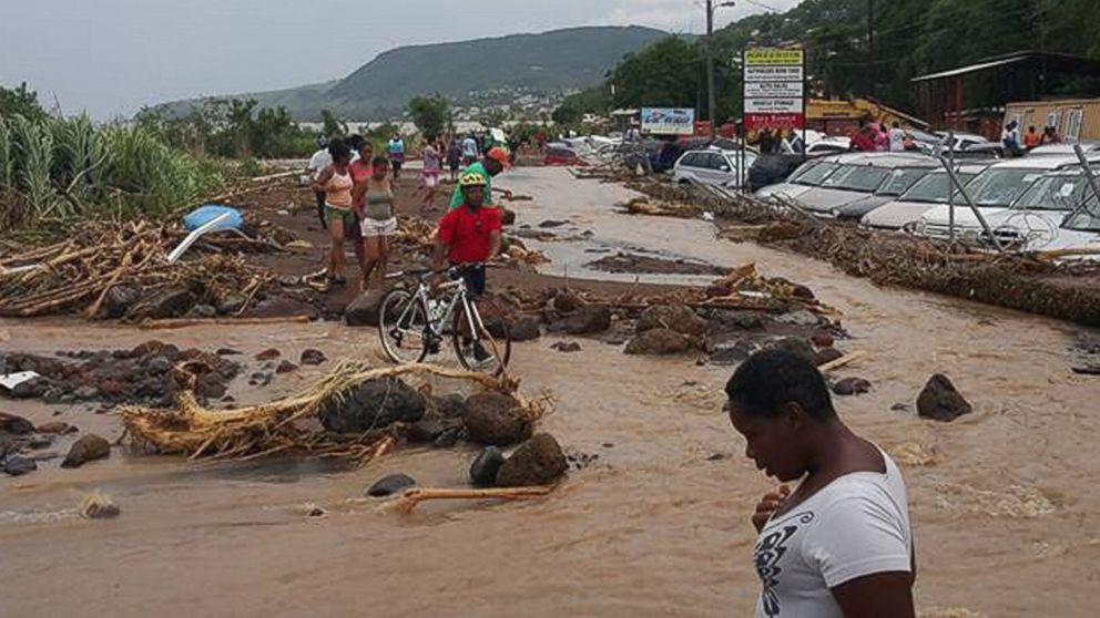 Tropical Storm Erika Dominica