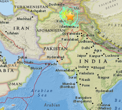 """Site of earthquake 