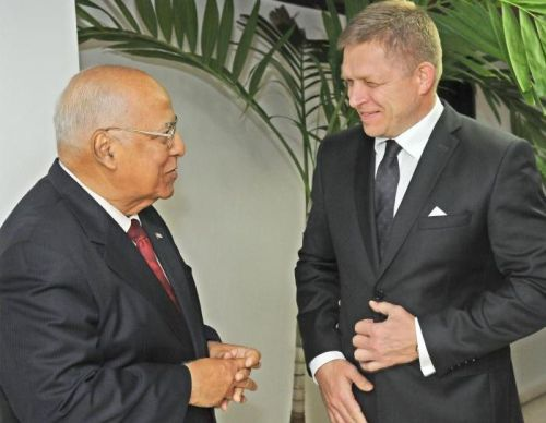 Slovakia Prime Minister Begins Official Visit to Cuba. Photo: AINuia.-y-cabrisas-foto-Jose-m-correa