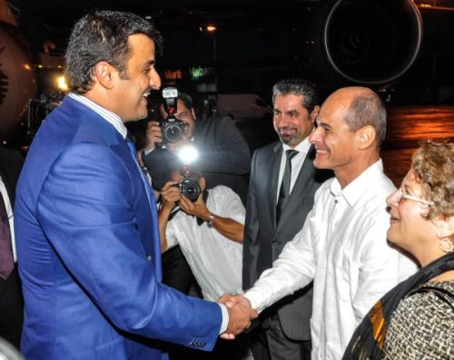 Emir of Qatar Arrives in Cuba for Official Visit. Photo: AIN.