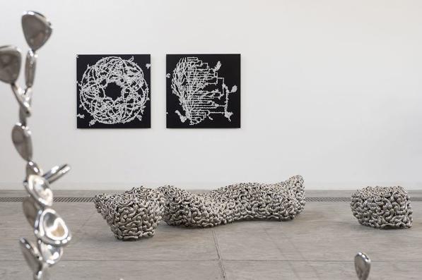 Installation by Loris Cecchini. Photo taken from en.cafa.com.cn