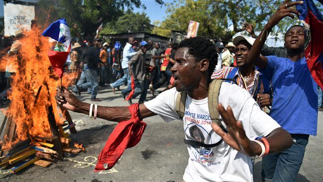 Haitian Opposition Demonstrate against OAS Mediation. Photo: AFP