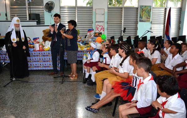 Russian Patriarch Visits Special Education School in Havana. Photo: ACN