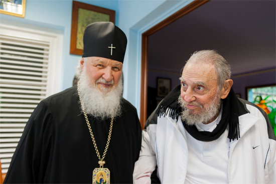 Fidel Castro and Patriarch Kirill. Photo: Alex Castro.