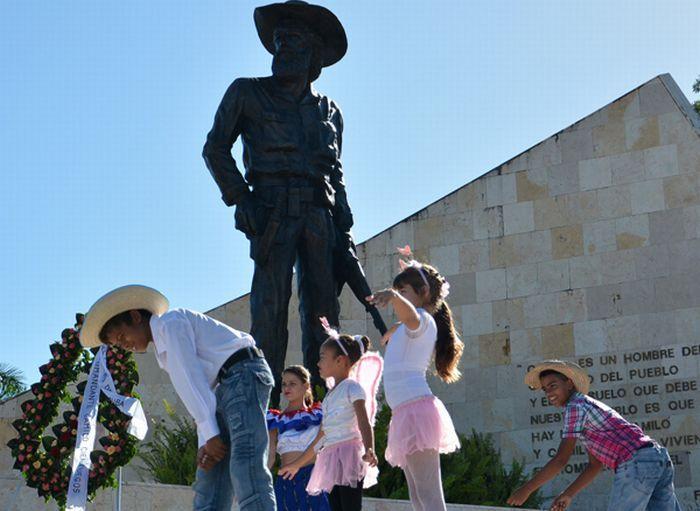 Yaguajay Honors Camilo Cienfuegos Birthday Anniversary. Photo: Oscar Alfonso Sosa / ACN