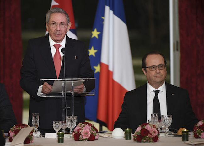 Raul Castro: We Appreciate French Position Supporting the Lifting of US Blockade. Photo: AP