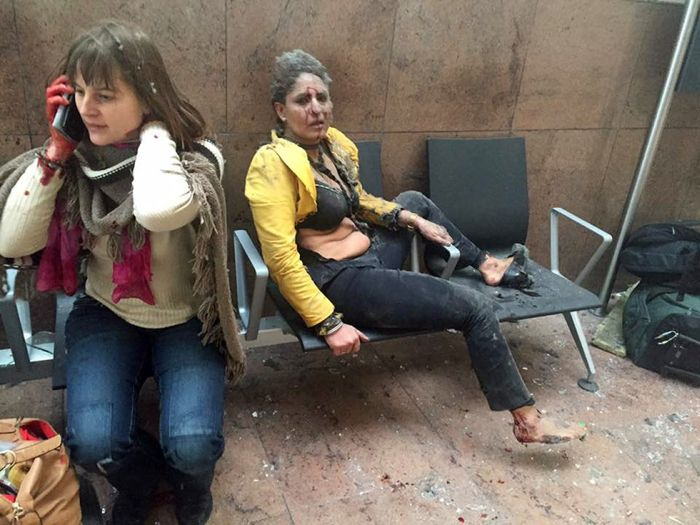 People Killed, Injured after Terrorist Attack in Brussels. Photo taken from El Pais.