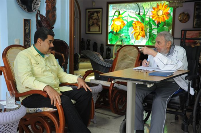 Nicolás Maduro Meets Fidel Castro before Returning to Venezuela. (Photo: ACN)