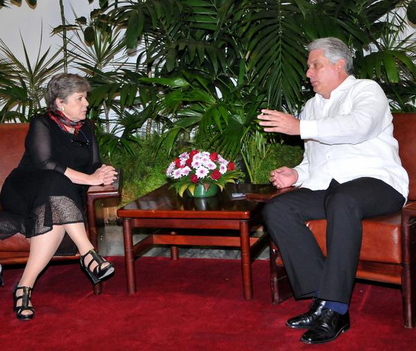 Cuban First Vice President Welcomes Head of ECLAC. (Photo: ACN)