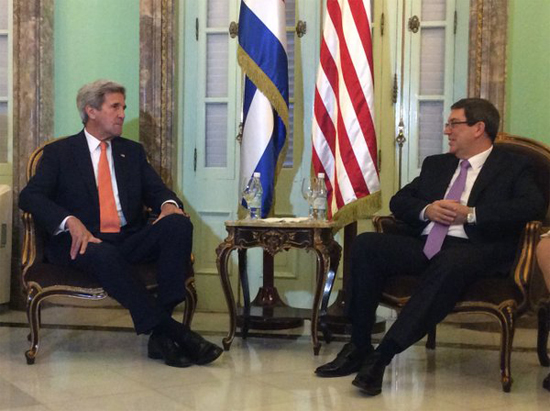 Bruno Rodriguez Meets with Us Secretary of State. (Photo taken from juventudrebelde.cu)