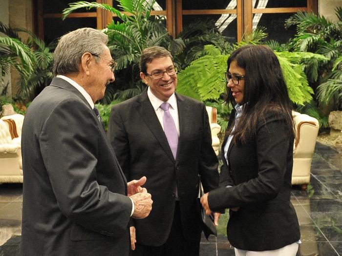 Raul Castro Holds Meeting with Venezuelan Foreign Minister. Photo: Estudios Revolución.