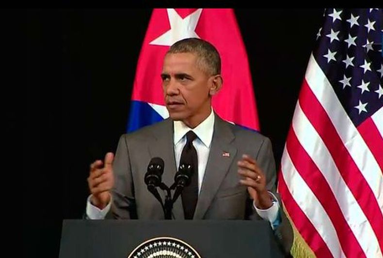 Barack Obama Delivers Speech at Gran Teatro de La Habana. (Photo taken from cubadebate.cu)