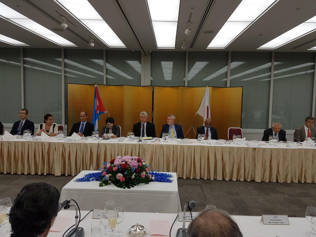 Cuban First Vice President Supports Vital Cooperation with Japan (Photo taken from @RogelioSierraD)
