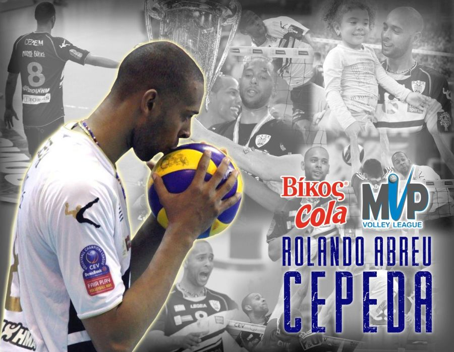 Cepeda Named Most Valuable Player in Greek Volleyball League