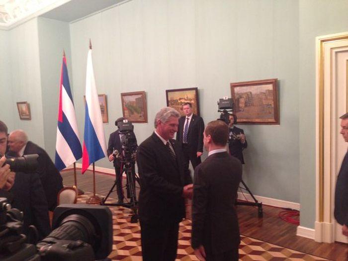 Medvédev and Díaz-Canel Analyze Links between Russia and Cuba (Photo: @teleSURtv @RogelioSierraD @NallyA2)