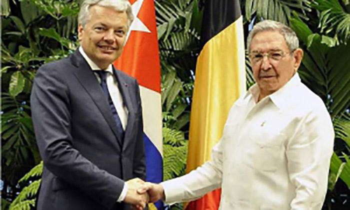 Raul Castro Holds Cordial Meeting with Belgium Foreign Minister (Photo: Estudios Revolución)