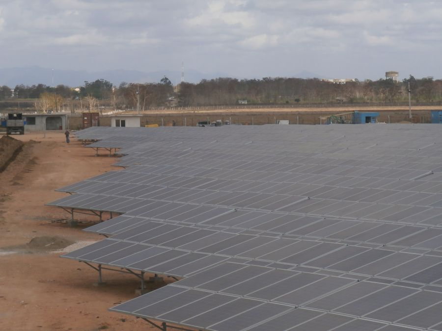 Sancti Spiritus Builds First Solar Park in La Sierpe (Photo: Empresa Electrica Provincial)