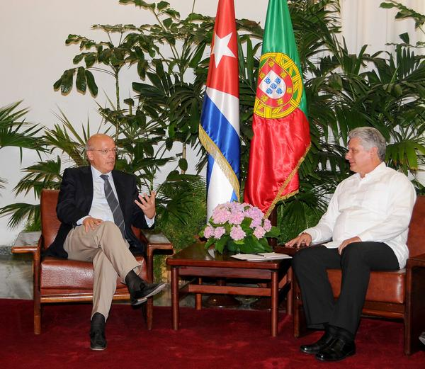 Cuba First Vice President Meets with FM of Portugal (Photo: ACN)