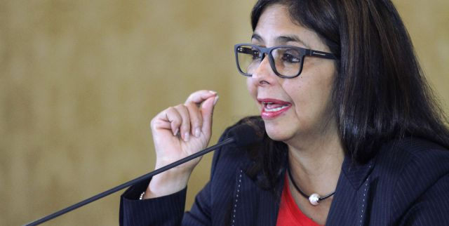 Venezuelan Foreign Minister Delcy Rodriguez (Photo taken from avn.info.ve)
