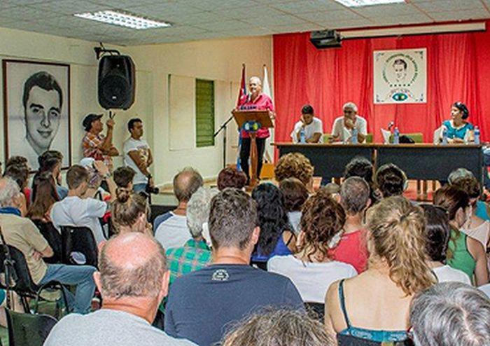 Jose Marti European Solidarity Brigade Arrives in Cuba (Photo taken from http://www.icap.cu)