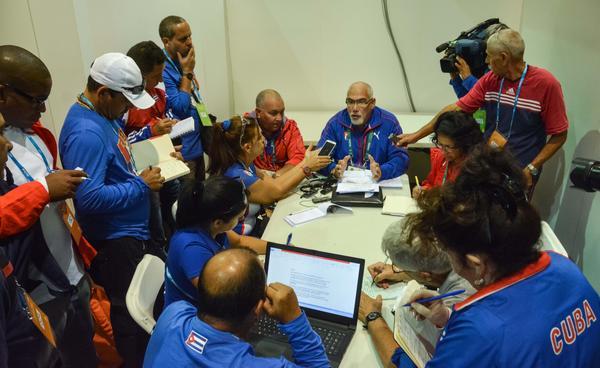 Antonio Becali, presidente del Instituto Nacional de Deportes, Educación Física y Recreación (INDER), ofreció declaraciones a la prensa cubana, acreditada en los XXXI Juegos Olímpicos en la ciudad de Rio de Janeiro, en Brasil, el 4 de agosto de 2016. ACN FOTO/Marcelino VÁZQUEZ HERNÁNDEZ